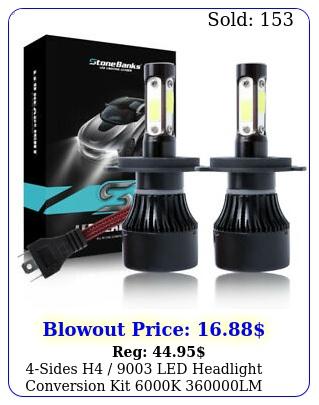 sides h  led headlight conversion kit k lm hilo beam bul
