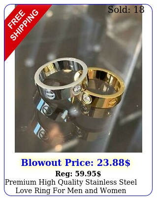 premium high quality stainless steel love ring men wome