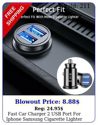 fast car charger usb port iphone samsung cigarette lighter socket adapte
