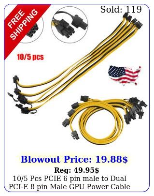 pcs pcie pin male to pin pin dual male gpu power cable splitter u