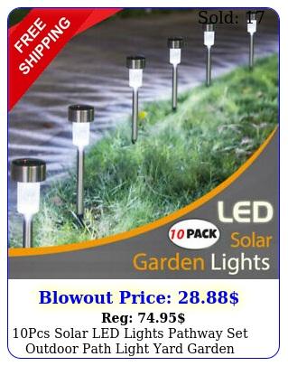 pcs solar led lights pathway set outdoor path light yard garden walkway lam