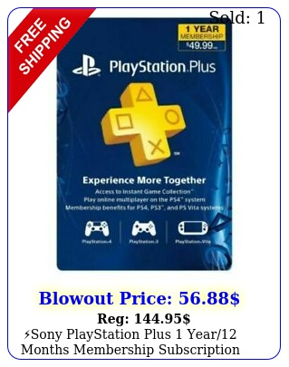 sony playstation plus year months membership subscription card ne