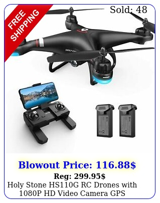 holy stone hsg rc drones with p hd video camera gps quadcopter follow m