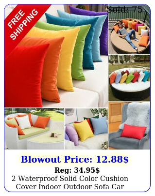 waterproof solid color cushion cover indoor outdoor sofa car throw pillow cas