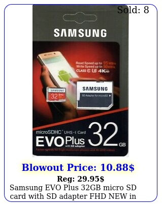 samsung evo plus gb micro sd card with sd adapter fhd in retail pac