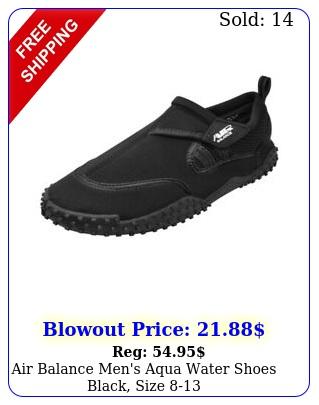 air balance men's aqua water shoes black siz