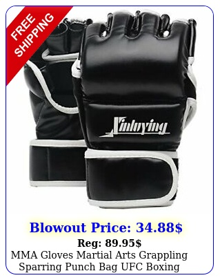 mma gloves martial arts grappling sparring punch bag ufc boxing training larg