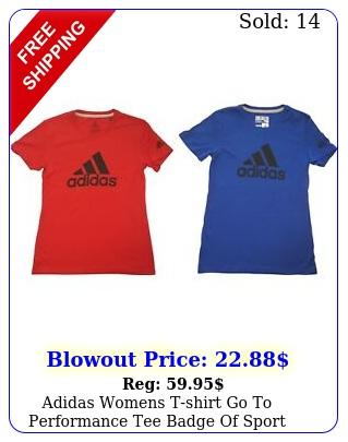 adidas womens tshirt go to performance tee badge of sport logo shir