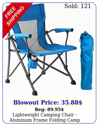 lightweight camping chair aluminum frame folding camp chair with carry ba