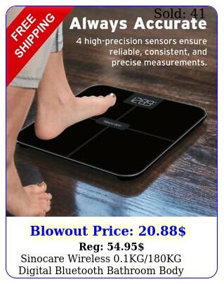 sinocare wireless kgkg digital bluetooth bathroom body weight scale
