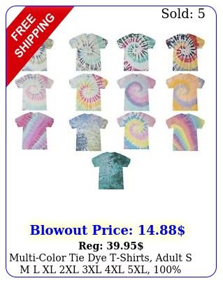 multicolor tie dye tshirts adult s m l xl xl xl xl xl cotto