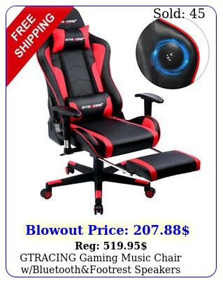 gtracing gaming music chair wbluetoothfootrest speakers video chair patente