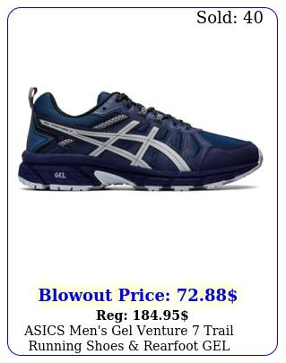 asics men's gel venture trail running shoes rearfoot gel technology cushion
