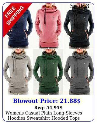 womens casual plain longsleeves hoodies sweatshirt hooded tops jumper pullove