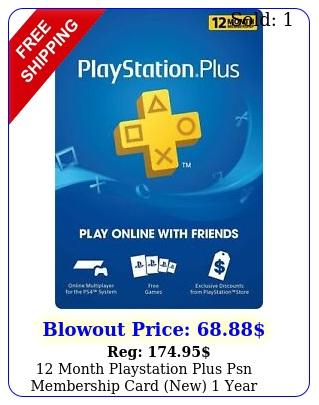 month playstation plus psn membership card new yea