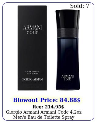 giorgio armani armani code oz men's eau de toilette spra
