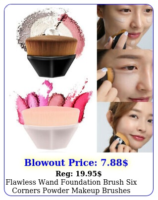 flawless wand foundation brush six corners powder makeup brushes tool u