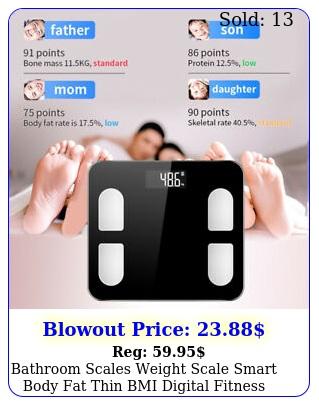 bathroom scales weight scale smart body fat thin bmi digital fitness lbk