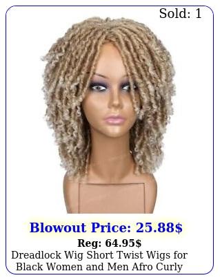 dreadlock wig short twist wigs black women men afro curly synthetic wi