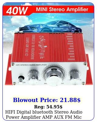 hifi digital bluetooth stereo audio power amplifier amp aux fm mic remot