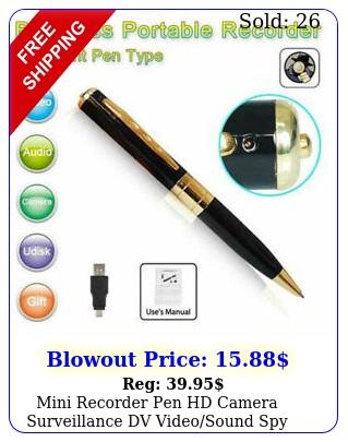 mini recorder pen hd camera surveillance dv videosound spy hidden body ca