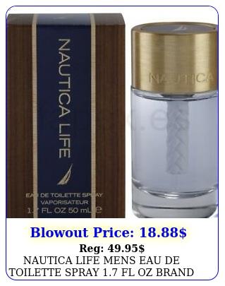 nautica life mens eau de toilette spray fl oz brand sealed in bo