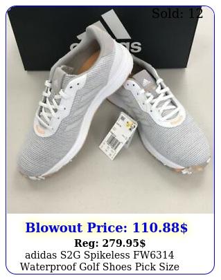 adidas sg spikeless fw waterproof golf shoes pick size greywhiteorang