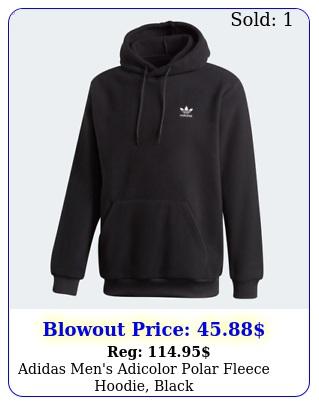 adidas men's adicolor polar fleece hoodie blac
