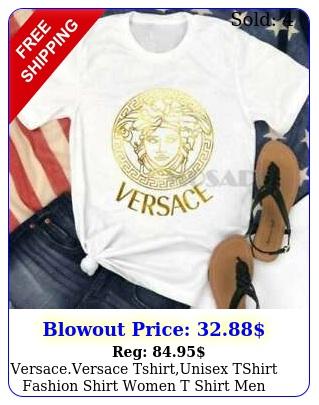 versaceversace tshirtunisex tshirt fashion shirt women t shirt men shirts log