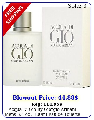 acqua di gio by giorgio armani mens oz ml eau de toilette seale