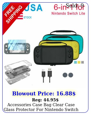 accessories case bag clear case glass protector nintendo switch lite i