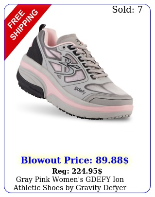 gray pink women's gdefy ion athletic shoes by gravity defye