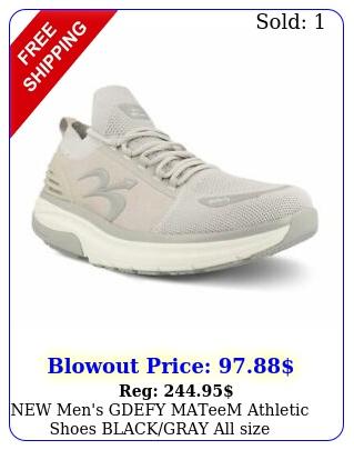 men's gdefy mateem athletic shoes blackgray all size freeshi