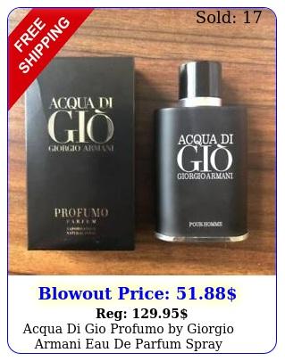 acqua di gio profumo by giorgio armani eau de parfum spray ozml me