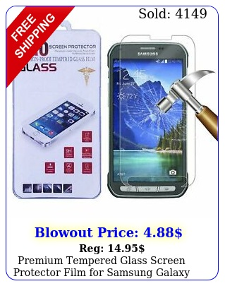 premium tempered glass screen protector film samsung galaxy s activ