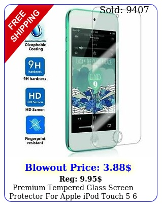 premium tempered glass screen protector apple ipod touch  th th ge