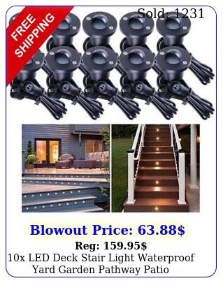 x led deck stair light waterproof yard garden pathway patio landscape lamp op