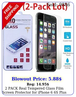 pack real tempered glass film screen protector iphone  s plu