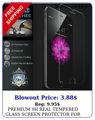 premium h real tempered glass screen protector apple iphone plus inc