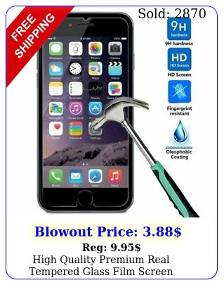 high quality premium real tempered glass film screen protector iphone plu