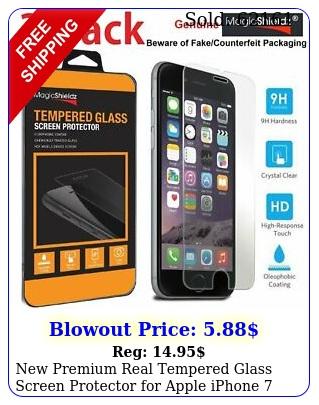 premium real tempered glass screen protector apple iphone plu
