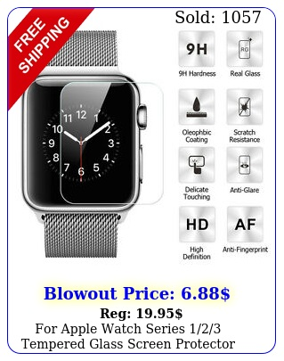 apple watch series tempered glass screen protector guard film m