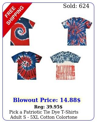 pick a patriotic tie dye tshirts adult s xl cotton colorton