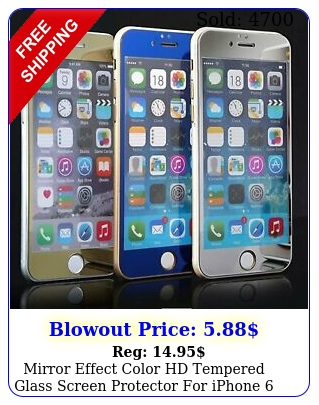 mirror effect color hd tempered glass screen protector iphone  plu