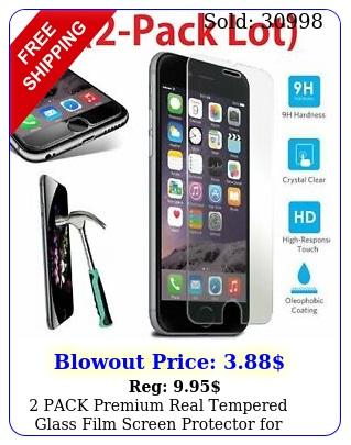 pack premium real tempered glass film screen protector iphone  plu