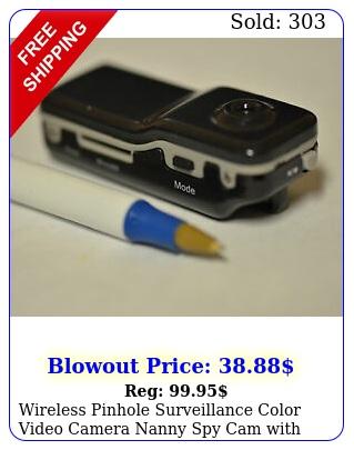 wireless pinhole surveillance color video camera nanny spy cam with sound audi
