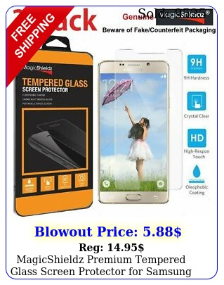 magicshieldz premium tempered glass screen protector samsung galaxy not