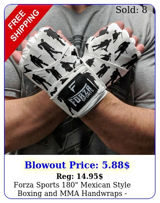 forza sports mexican style boxing mma handwraps zombie whit