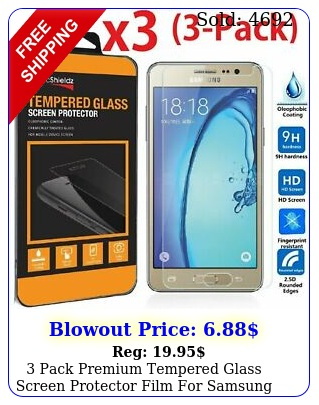 pack premium tempered glass screen protector film samsung galaxy on