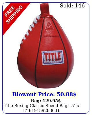 title boxing classic speed bag